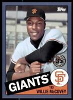 2020 Update 1985 Baseball Blue #85TB-39 Willie McCovey - San Francisco Giants