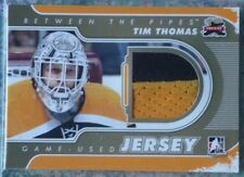 2011-12 ITG Between The Pipes Game-Used Jersey GOLD Tim Thomas /10 Boston Bruins