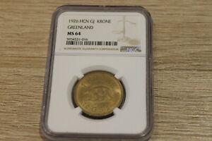 Greenland 1 krone 1926 NGC MS64 @ low start