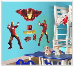 Wandtattoo Wandsticker Wandaufkleber Iron Man Ironman Marvel Superheld XL W021