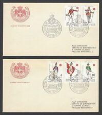Sovreign Military Order of Malta 1971 Uniforms of the Order 5v on 2 FDCs