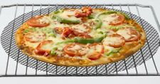 Pizza Mesh Oven Tray Baking Sheet For Crispy Pizza Bases Black PTFE