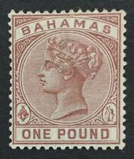MOMEN: BAHAMAS SG #57 CROWN CA MINT OG H LOT #192430-1091