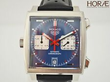 Tag Heuer Men's MONACO Calibre 11 Steve McQueen chronograph automatic blue face