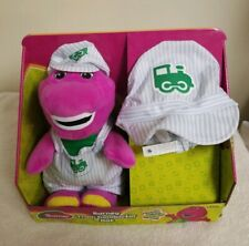 """Fisher-Price Barney 12"""" Plush Doll Train Conductor & Hat For Child Doll Toy Kids"""