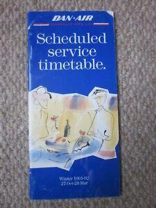 Dan-Air Services Ltd Winter 1991/92 Airline Timetable