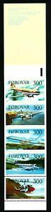 Faroe Islands 1985 Slot Machine Booklet Aero planes. MNH