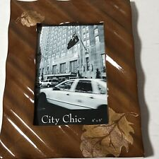 City Chic 4x6 Solid Wood Decorative Picture Photo Frame