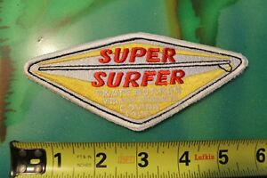 SUPER SURFER Hobie Skateboards Surfboard Rare Original 60's Vintage Surf PATCH