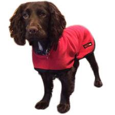 """HOTTERdog Water Repellent Winter Fleece Warm Dog Coat by Equafleece - Red 22"""""""