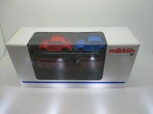 Märklin: Nr.4613 Auto-Wagen With 4 x Wiking VW Beetle, Top (Stiege39)