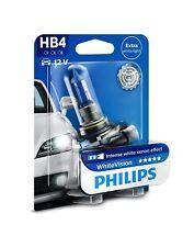 2 x HB4-9006 55W WHITE VISION PHILIPS AUTOLAMPE XENON-EFFEKT 9006BV - P22d