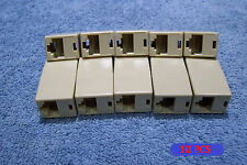 10 PCS RJ45 ETHERNET NETWORK LAN PLUG COUPLING CONNECTOR , NICE !!