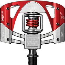 Crank Brothers Mallet 3 Pedals Raw/Red Mountain MTB