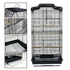 "36"" Pet Bird Cage Hanging Parrot Aviary Canary Budgie Finch Portable Perches UK"