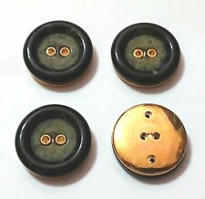 15mm 20mm Light Cream /& Gold Shank Dress Jacket Coat Buttons P50 P51