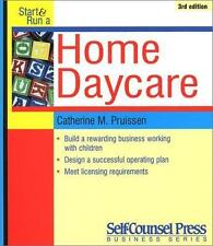 Start and Run a Home Daycare (Start & Run a...)-ExLibrary