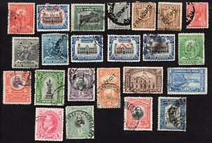 Peru 1896-1913 Group of Stamps Used, MH, MNG