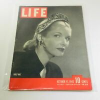 VTG Life Magazines: October 11 1943 - Half-Hat Fashion / Jewish Homeland