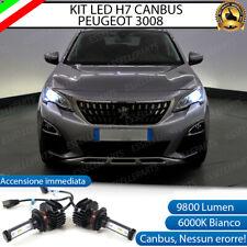 KIT LED H7 6000K CANBUS XENON 9800 LM LUMEN PEUGEOT 3008 NO AVARIA LUCI