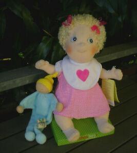 Stoffpuppe Puppe blond Rubens Barn Kids Linnea 36 cm + Alana Spielzeug, Doll