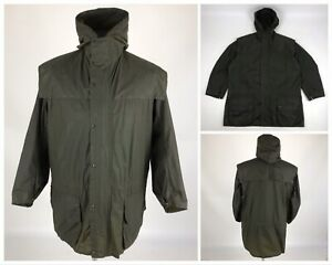 Vintage BARBOUR Durham Waxed Hooded Rain Jacket Wax Olive Men's Size 97cm/38in