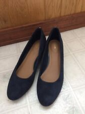 Clarks Artisan Women's 8 1/2 W New without Box Navy Suede Wedge Vendra Bloom
