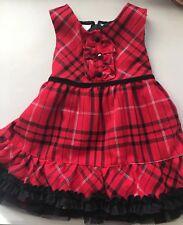 Koaka Kids Infant Girl 12 Mo Red Plaid Dress EUC