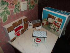 Alte Küche+Karton-Modella-50-60er Jahre-Puppenhaus-Puppenstube-1:12