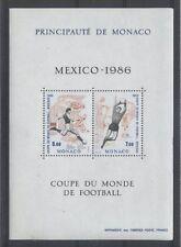 MONACO bloc 35 - COUPE DU MONDE DE FOOTBALL de 1986 ** NEUF LUXE