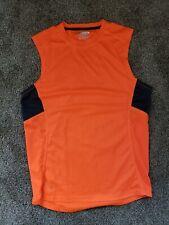 Layer 8 Orange Performance Sleeveless Athletic Small Sleeveless Shirt
