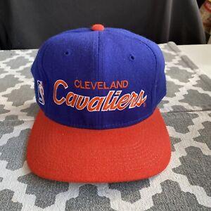 Vintage 90's Cleveland Cavaliers Cavs Script Sports Specialties NBA Wool Hat Vtg