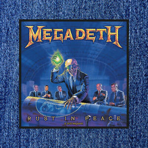 MEGADETH - RUST IN PEACE (NEW) SEW ON PATCH OFFICIAL BAND MERCH
