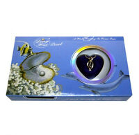 A Set Blue Box Love Wish Pearl Necklace Set Oyster Drop Pendant Xmas Gift