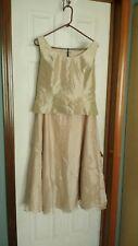 David's Bridal Gold Skirt and Top Formal Wear Women's Sz 14