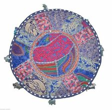 Vintage Patchwork Indian 14X18 Cotton Ottoman Pouf Moroccan Seat Footstool Cover