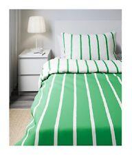 IKEA Tuvbracka Twin Duvet Cover(2nd Ships w/Discnt)Stripe Pillowcase GREEN White