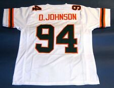 DWAYNE JOHNSON CUSTOM UNIVERSITY OF MIAMI HURRICANES W JERSEY THE ROCK BALLERS