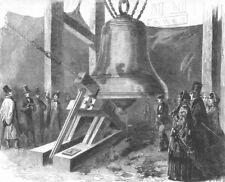 BIG BEN. Experiment hammer upon Great Bell Westminster Clock. London, 1856