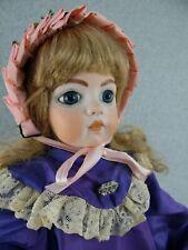 """25"""" Muriel Kramer artist antique reproduction bisque head porcelain Bru Jne Doll"""