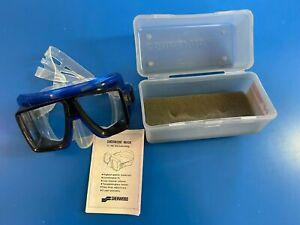 SCUBAPRO Quad Vision Scuba Diving Dive Mask - Crystal / Blue with Case Sherwood