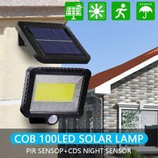 100 LED Solar Sensor Lights Light Motion Detection Security Garden Flood Lamp US