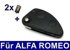 2T Set SFILARE IL CORPO CHIAVE PER ALFA ROMEO 147 TS 156 JTD + 2x micro-tester