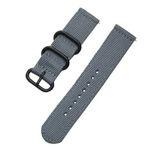 Watch Band Woven Casual Nylon Wristwatch Strap Men Women Bracelet Quick Release
