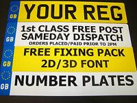 CAR NUMBER PLATES 3 PLATES SAME REG GB/EU REGISTRATION PLATES MOT LEGAL