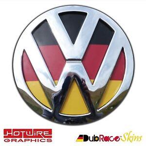 Volkswagen VW T5 & T6 Transporter Van German Flag Colours - REAR Badge Inserts.