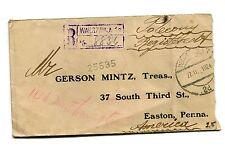Vintage Envelope REGISTERED LETTER 1924 WARSAW POLAND nice cancels