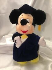 "Disneyland Graduation Mickey Mouse 11"" with Navy Blue Cap & Gown"