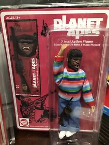 "Planet Of The Apes Kid w/ Mask & Rifle Playset 7"" action Retro Figure-BrentzDolz"