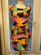 Lipsy Bright Multicolour Bold Print Dress Size 12